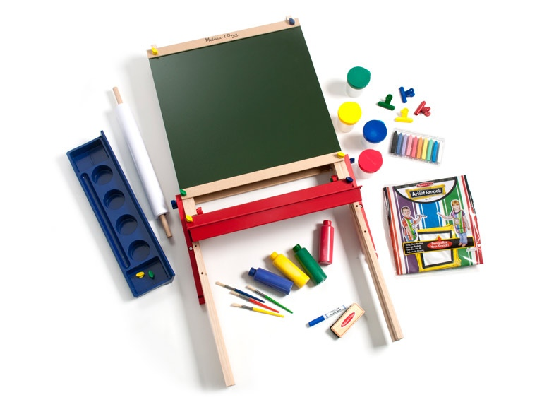 melissa and doug easel and art supplies
